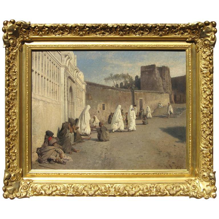 Hermann Herzog Orientalist Oil on Canvas  For Sale