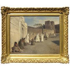Hermann Herzog Orientalist Oil on Canvas
