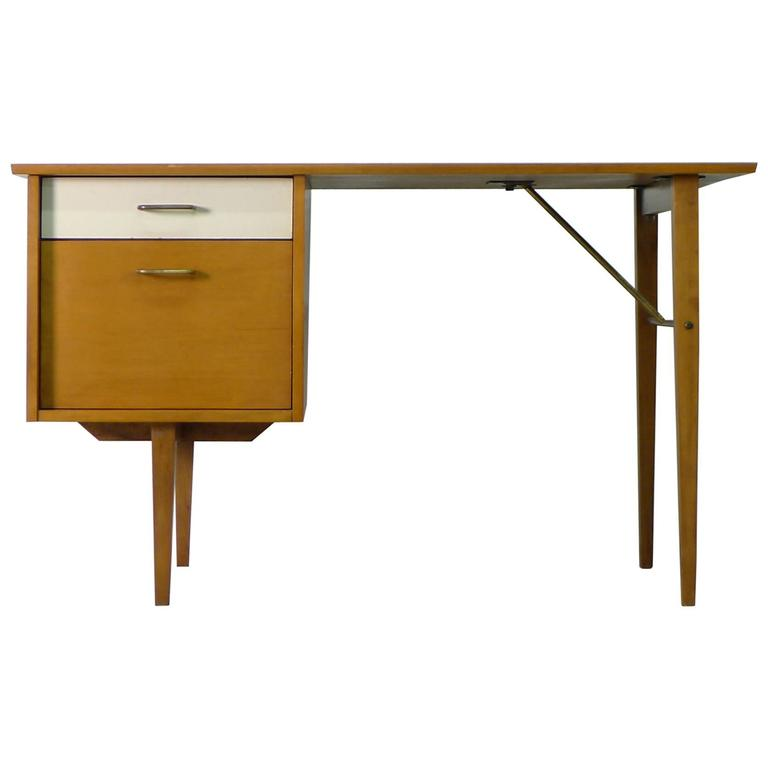Milo baughman desk for sale at 1stdibs - Orange floating desk ...