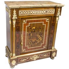Stunning Bespoke Handmade Victorian Walnut & Mahogany Marquetry Cabinet