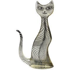 Large Vintage Mid-Century Op Art Lucite Kitty Cat Sculpture Abraham Palatnik