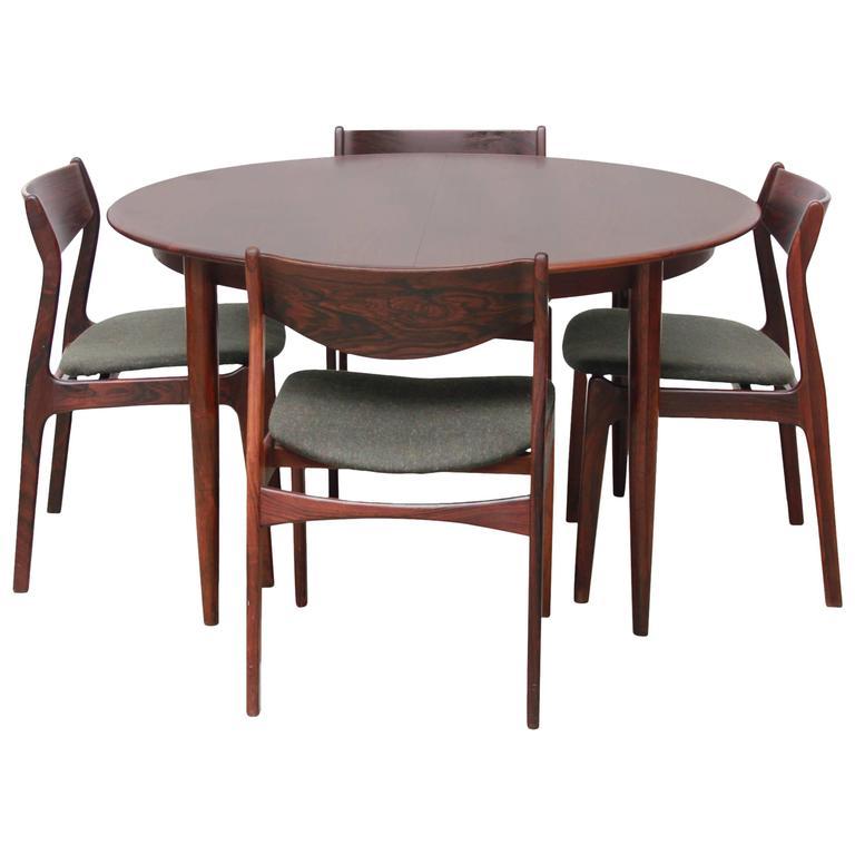 Mid Century Danish Rosewood Dining Set From P.E. Jorgensen For Farso  Stolefabrik 1