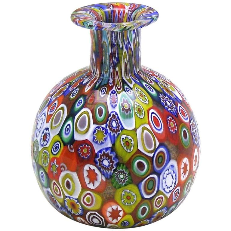 Gambaro And Poggi Millefiori Handblown Murano Glass