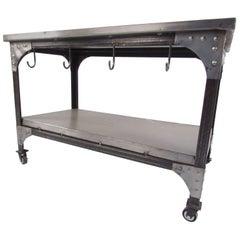 Industrial Metal Storage Cart