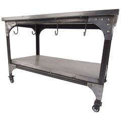 Industrial Metal Storage Cart