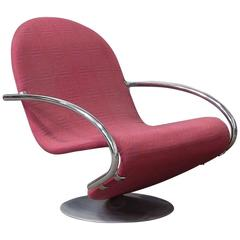 1973, Verner Panton, 1-2-3 Serie Easy Chair in Original Panton Fabric