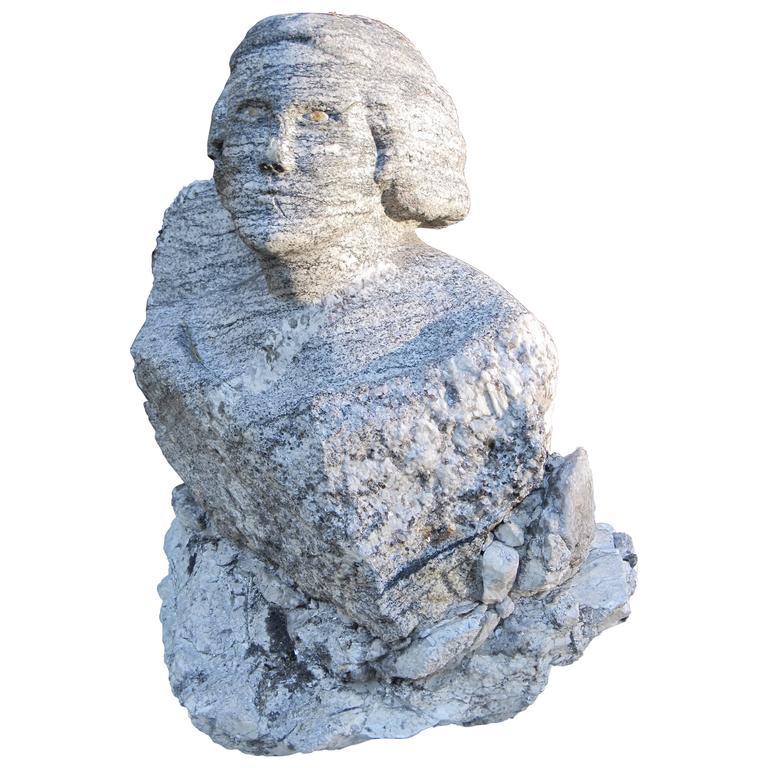 Granite George Washington Sculpture