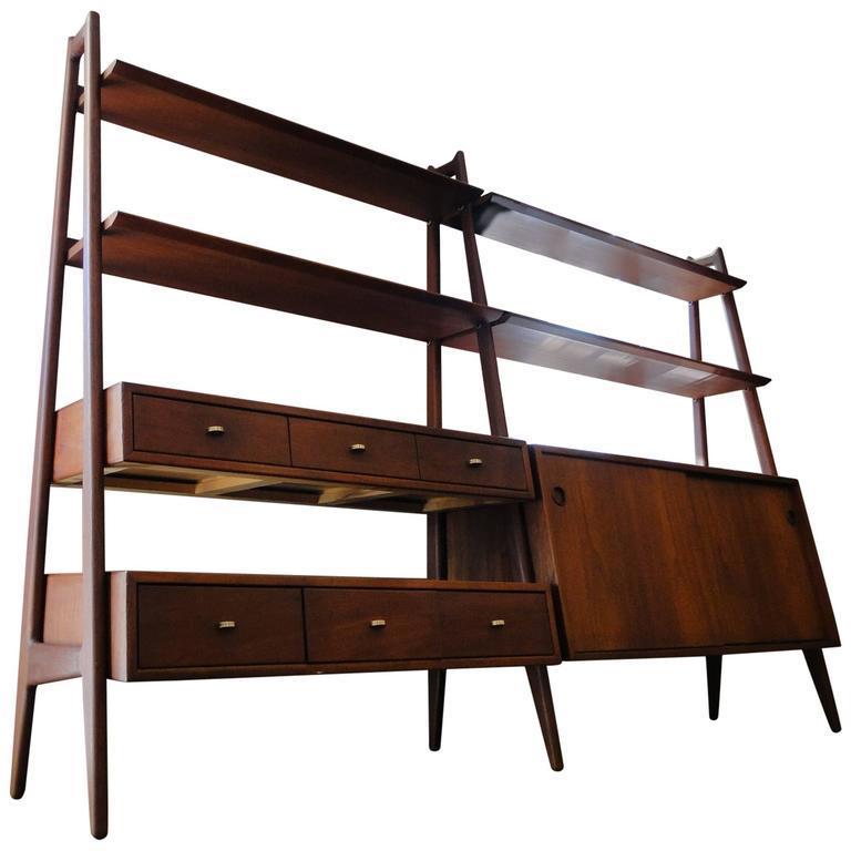 Teak book shelf bookcase designed by arne vodder for vamo for sale at 1stdibs - Hideable furniture ...