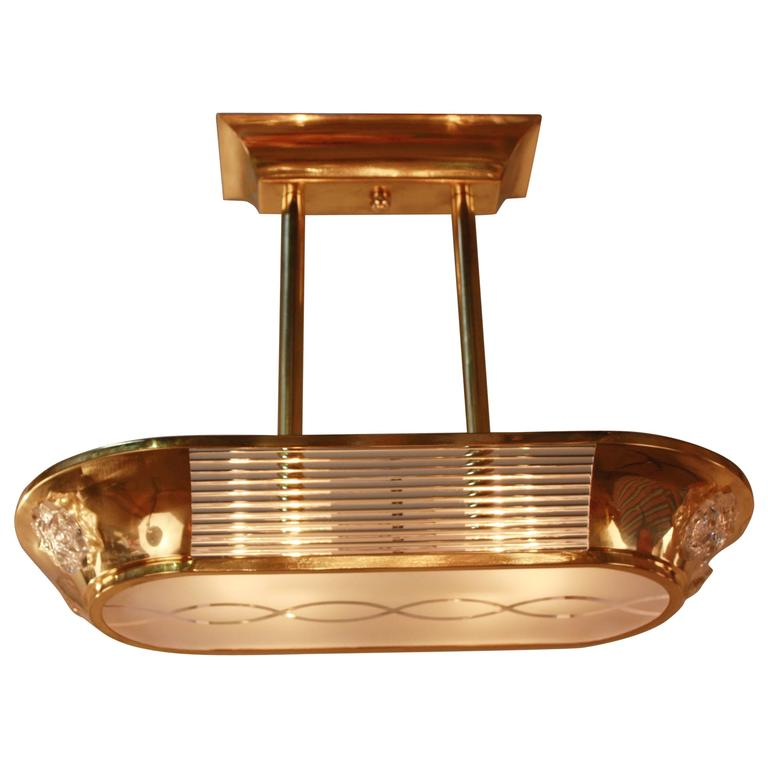 French Art Deco Chandelier By Atelier Petitot At 1Stdibs