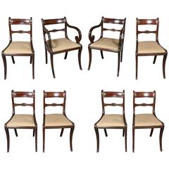 Set of Eight Regency Mahogany Dining Chairs