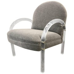 Pace Collection Lucite Armchair