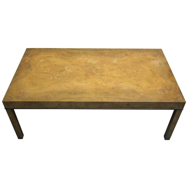 Midcentury Burl Wood Coffee Table By Baker Furniture For Sale At 1stdibs