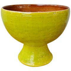 Bitossi Lime Green or Brown Footed Bowl for Raymor