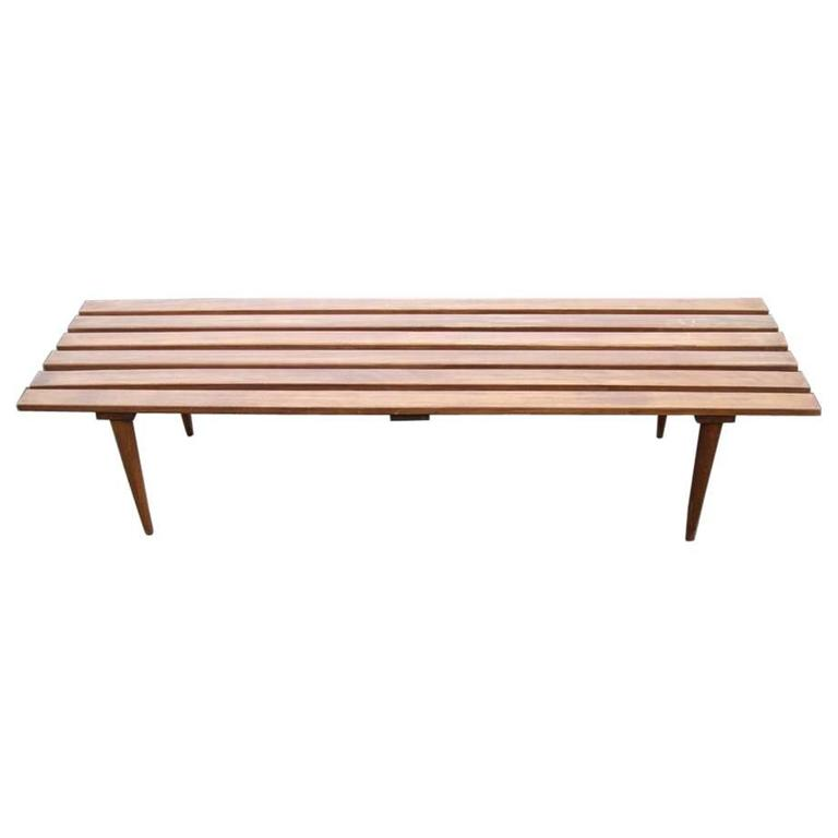 George Nelson Style Bench Cocktail Table