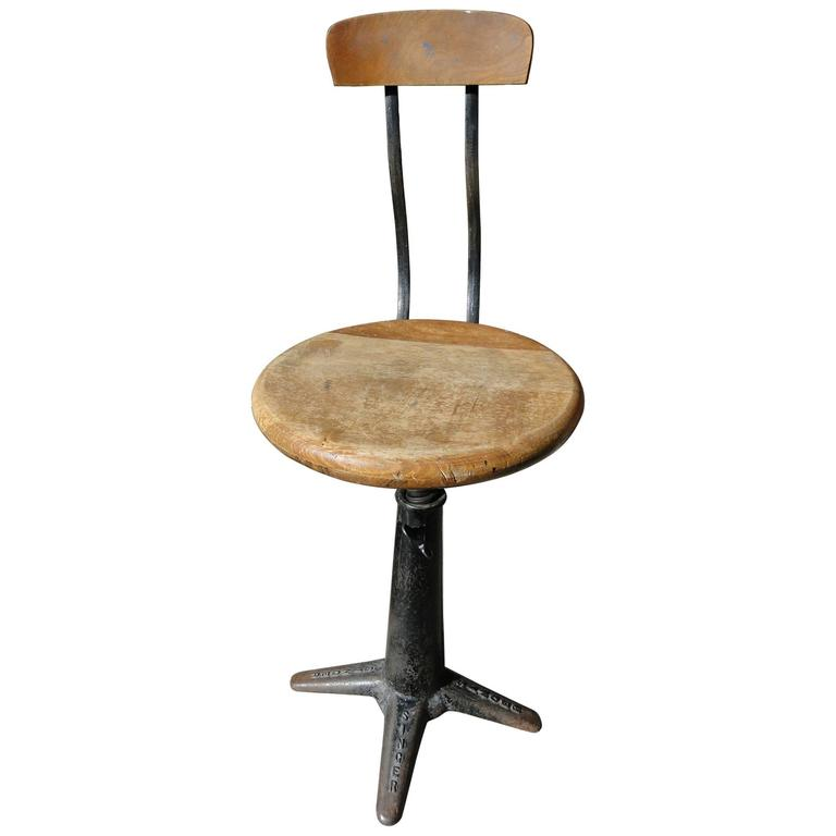 Vintage Industrial Singer Work Chair Stool By Simanco At