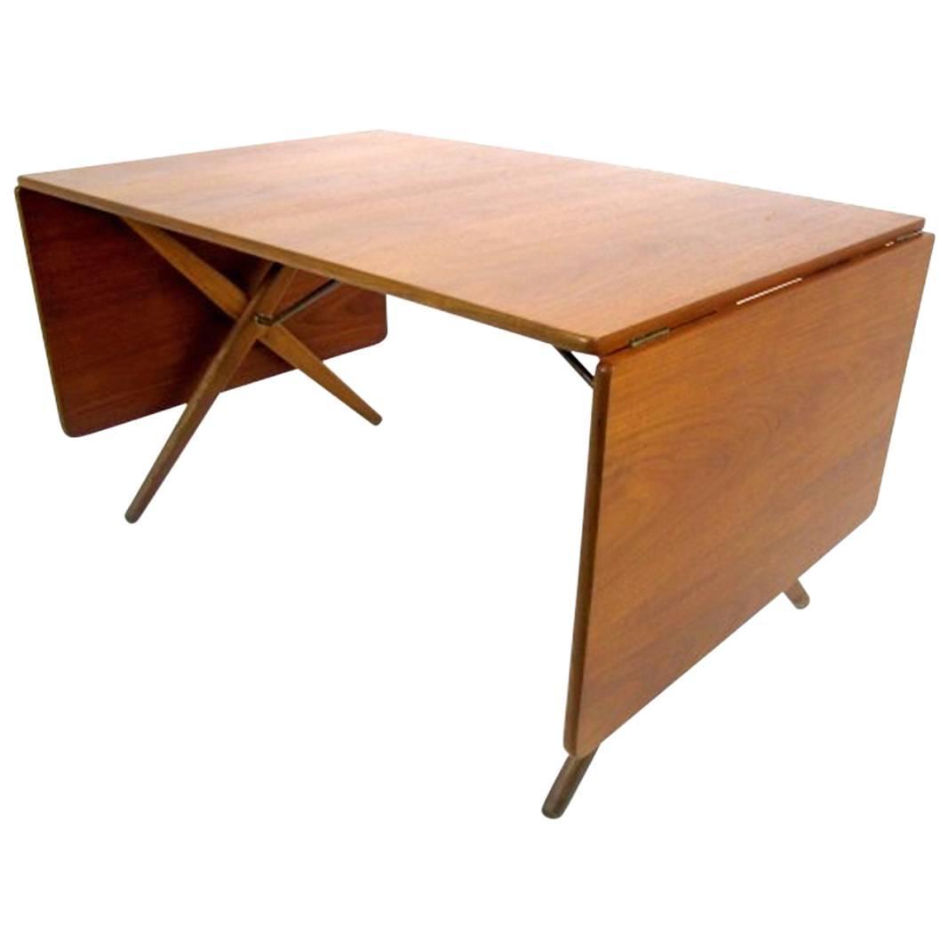 Dining Table With Cross Leg, At 309 Hans J Wegner For Andreas Tuck At  1stdibs