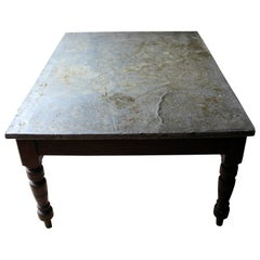 Fabulous 19th Century Victorian Pine and Zinc Topped Table, Circa 1870-1880