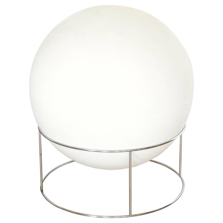 Globe Lamp with Chrome Base