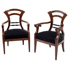 Biedermeier Armchairs, Danube Monarchy 19th Century