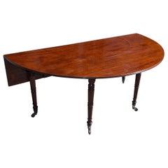 English Mahogany George III Demilune Social Wine Table, Circa 1780