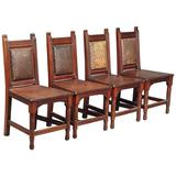 Set of Four Aesthetic Hall Chairs in the Manner of E W Godwin