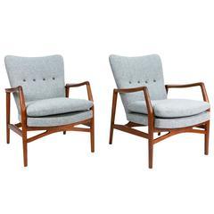 Kurt Olsen Model 215 Teak Lounge Chairs, 1954