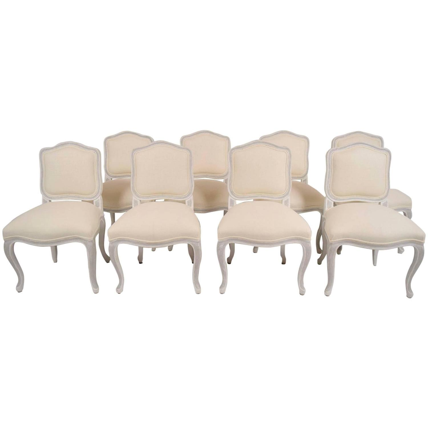 Set Of Eight Antique French Louis XV Style Dining Chairs For Sale At 1stdibs