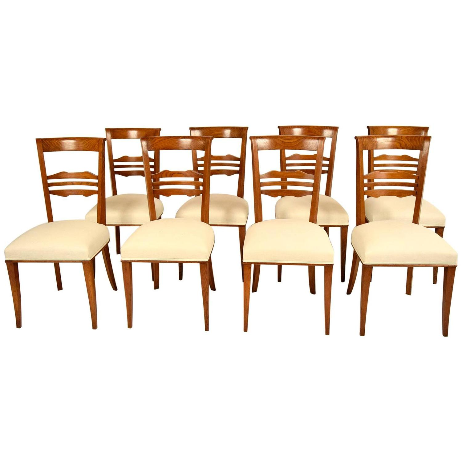 Set of eight regency style dining chairs at 1stdibs for Regency furniture living room sets