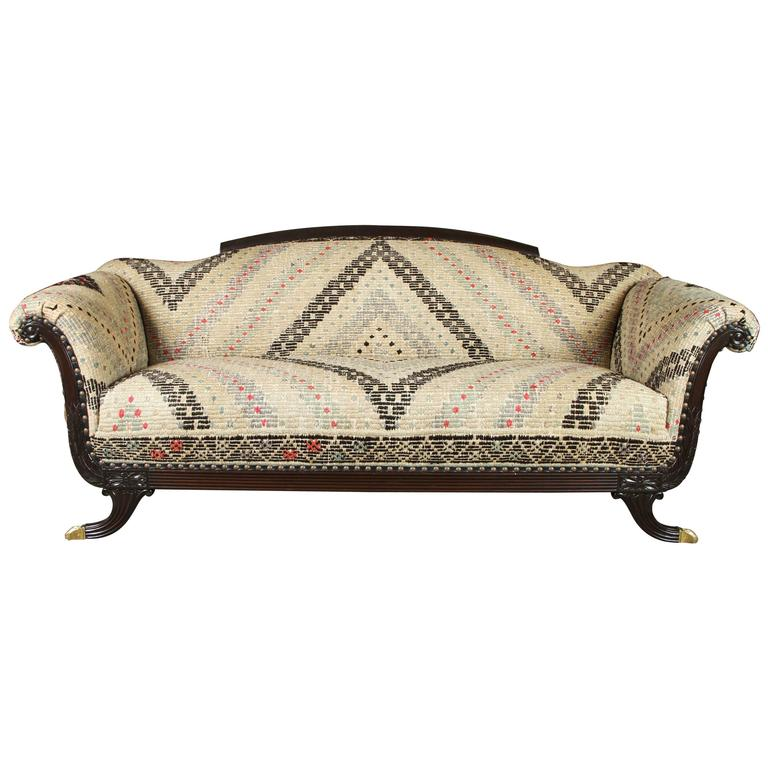 Duncan Phyfe Style Sofa 1930s At 1stdibs