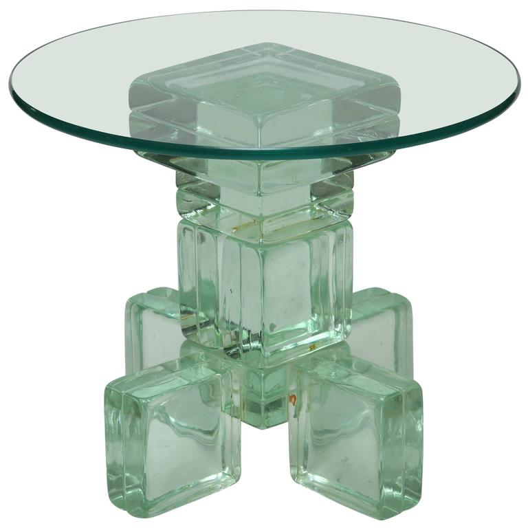 glass block furniture. Mid-Century Modern Imperial Imagineering Sculptural Solid Glass Block Side Table For Sale At 1stdibs Furniture