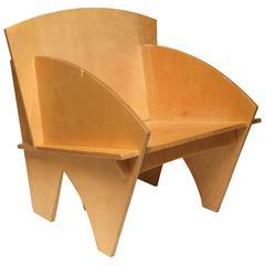 Art Deco Deconstruction Modern Plywood Chair Manner of Ilonka Karasz