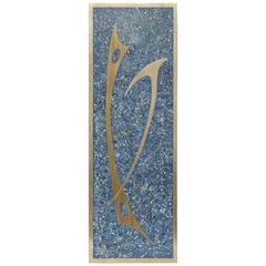 Mid-Century Modern Abstract Sigi Pineda Sculpture Mosaic Lapis or Bronze Plaque