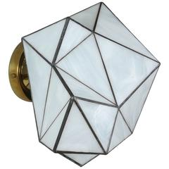 Small Geo Glass Sconce by Jason Koharik for Collected By