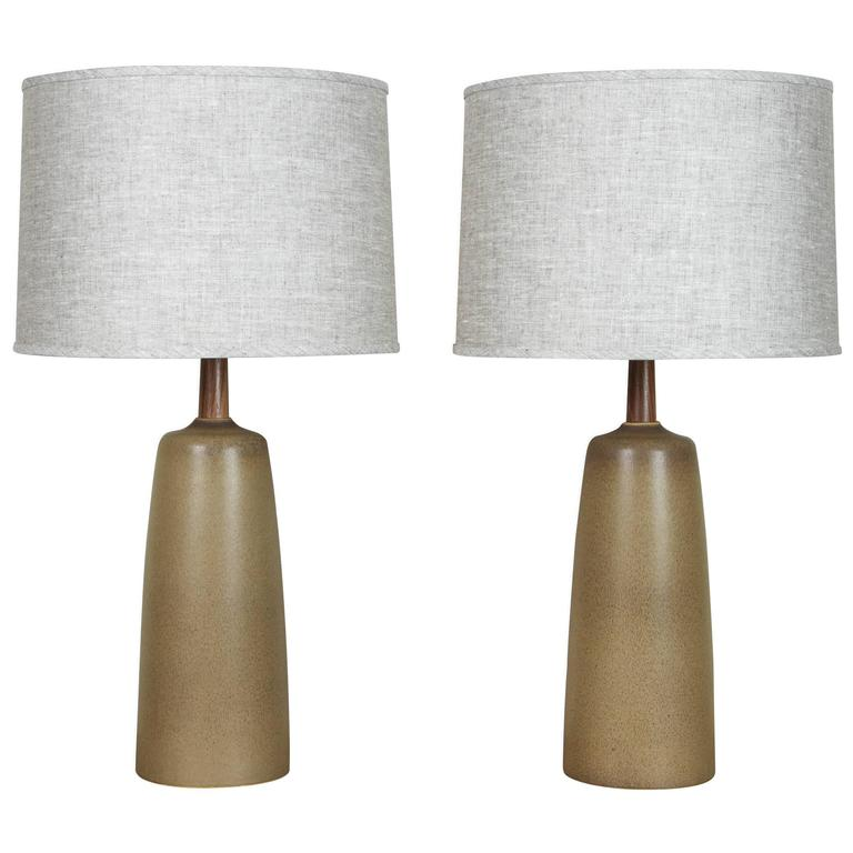 Pair of Tor Lamps by Stone and Sawyer for Lawson-Fenning For Sale
