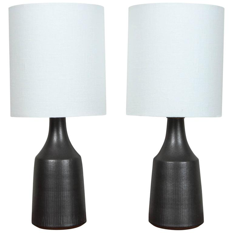 "Pair of Black ""Classic"" Lamps by Victoria Morris"