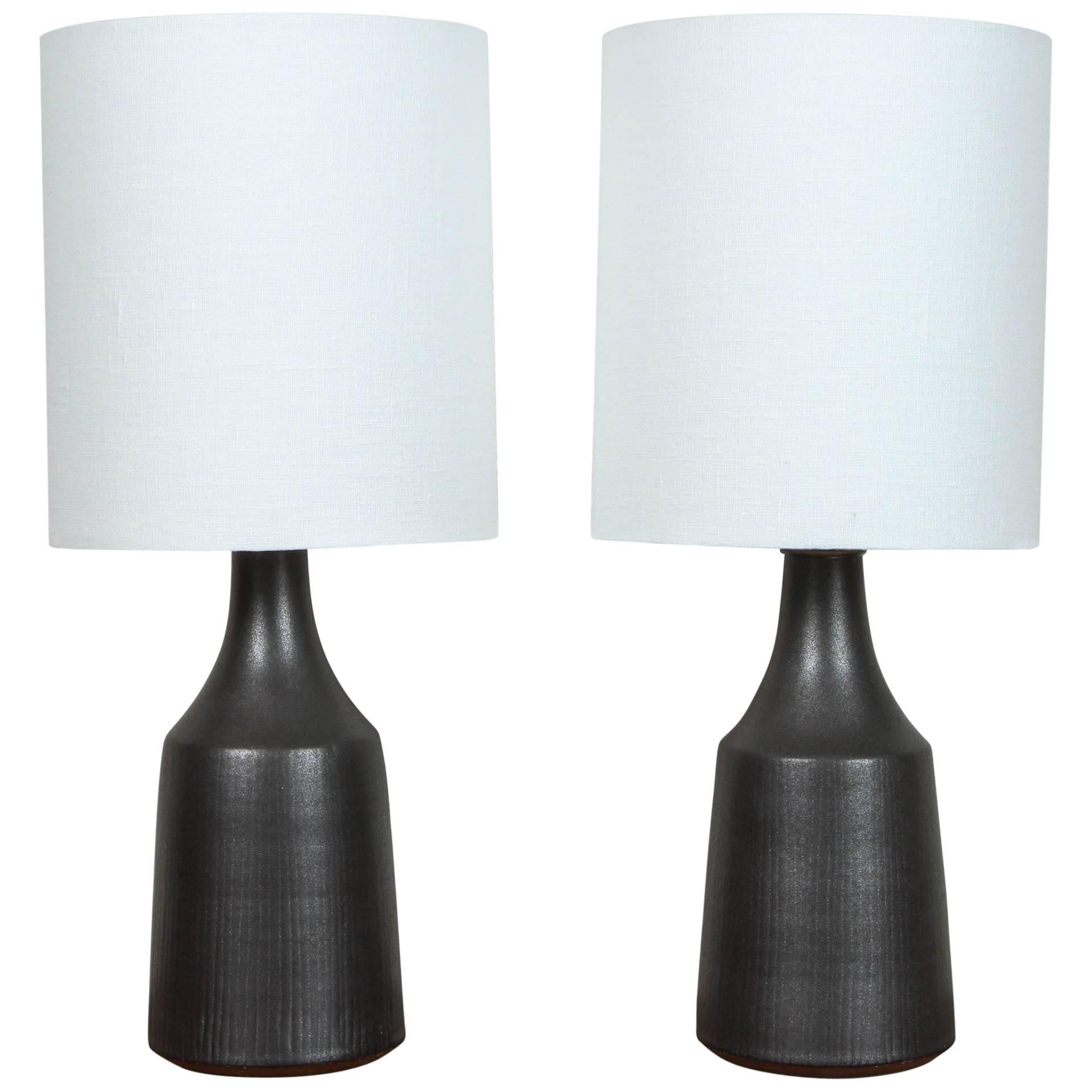 """Pair of Black """"Classic"""" Lamps by Victoria Morris for Lawson-Fenning"""