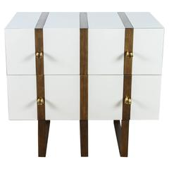 Paul Marra Two-Drawer Banded Chest