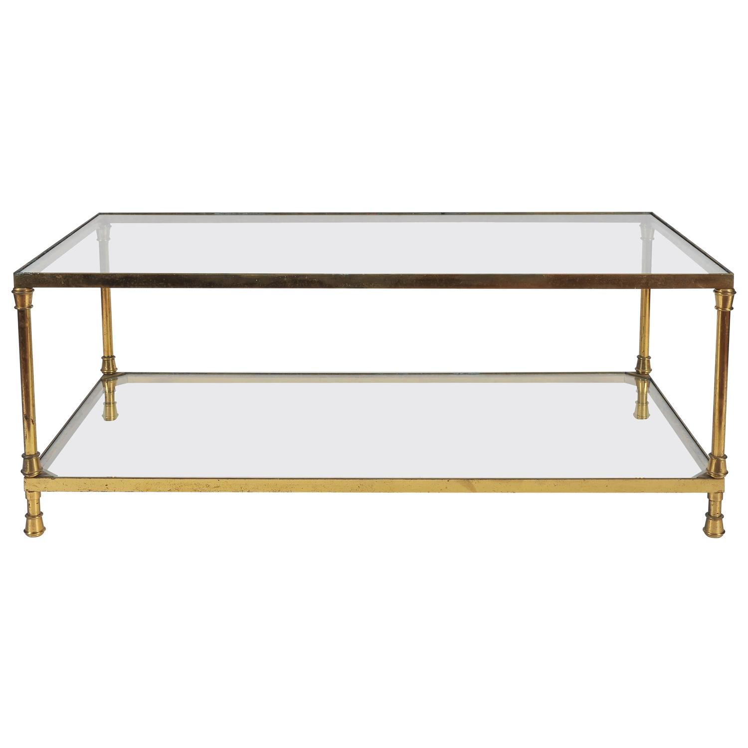 Italian Brass And Glass Coffee Table 1950s For Sale At 1stdibs
