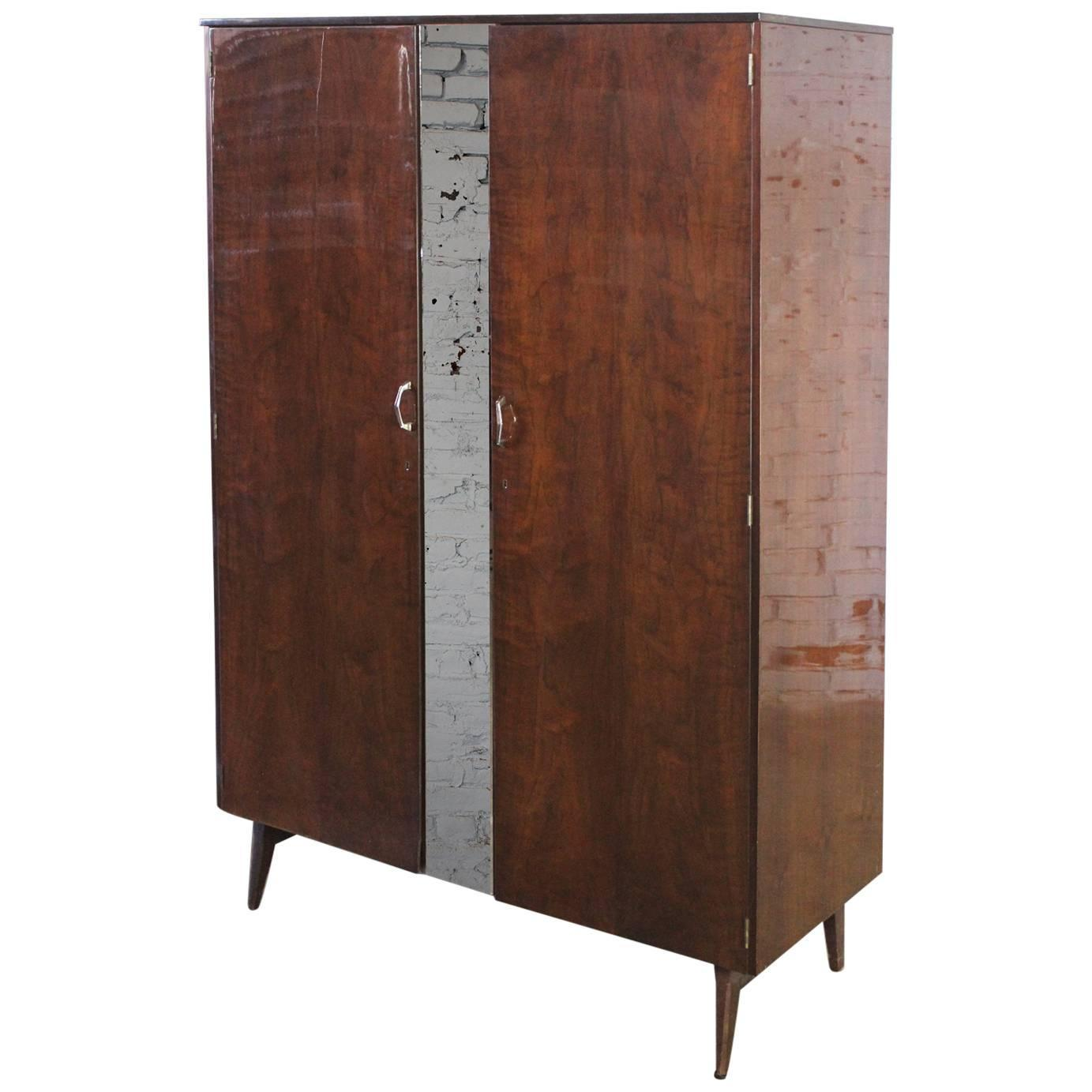 mid century modern tola wardrobe by alphons loebenstein. Black Bedroom Furniture Sets. Home Design Ideas