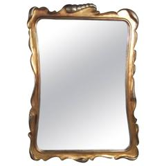 Dorothy Draper Silver and Gold Giltwood Mirror