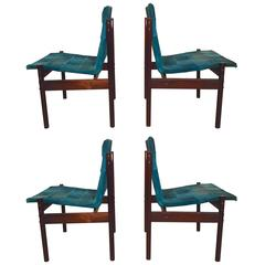 Set of Four Brazilian Chairs by Celina Moveis