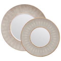 Faux Shagreen Mirrors