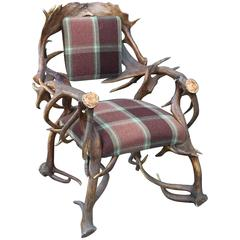 Scottish Red Deer Horn Armchair