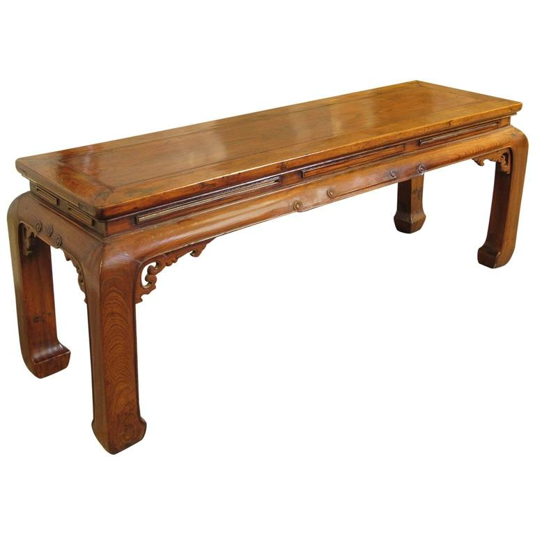 Antique chinese ming style carved hardwood table 19th for Antique chinese furniture styles