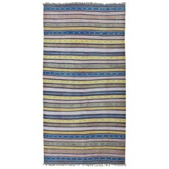Long Vintage Cotton Dhurrie Rug