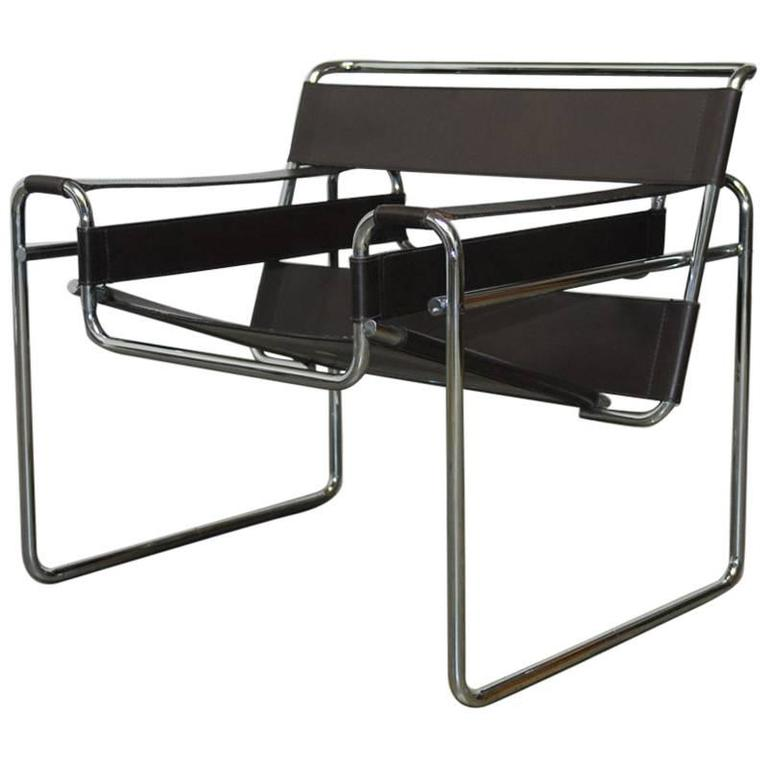 mid century wassily chair by marcel breuer for stendig for. Black Bedroom Furniture Sets. Home Design Ideas