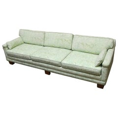 Mid-Century Modern Sofa Upholstered in Fortuny Style Fabric