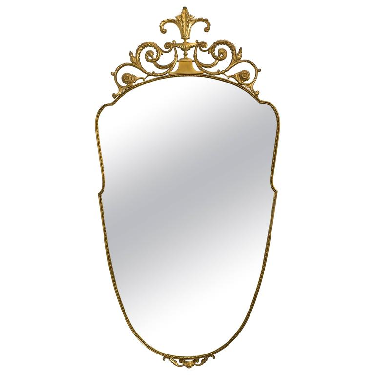 Italian Brass Wall Mirror