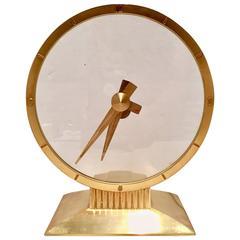 Jefferson Brass Golden Hour Ghost Clock