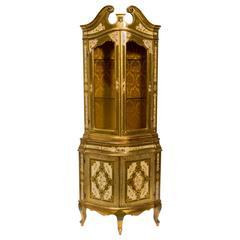 Italian Florentine Corner Cabinet